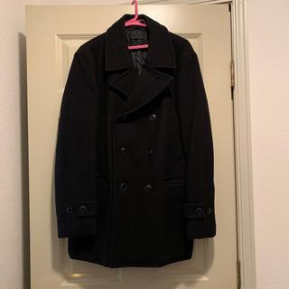 ユニクロ(UNIQLO)のPコート メンズ BLACK(ピーコート)