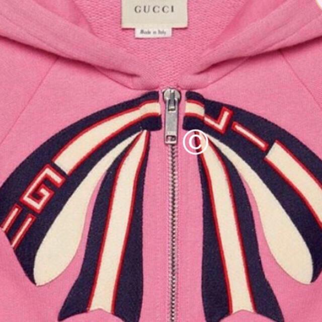 Gucci(グッチ)の新品未試着 大人サイズ GUCCI リボンデザイン スウェットパーカー レディースのトップス(パーカー)の商品写真