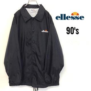 ellesse - 美品 90's ellesse ナイロンコーチジャケット メンズM 刺繍ロゴ