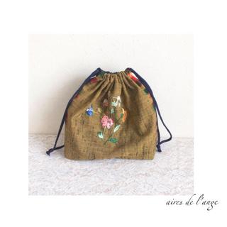 no.540-denim remake *embroidery lunchbag(バッグ/レッスンバッグ)