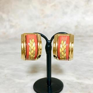 エルメス(Hermes)の正規品 エルメス イヤリング エマイユ 七宝焼き ゴールド 金 稲穂 フープ 葉(イヤリング)