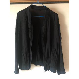 ジーユー(GU)のブラック薄手ジャケット(その他)