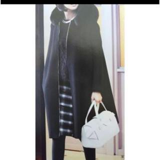 ドゥロワー(Drawer)のドゥロワー 幻のフォックスファーフードコート 黒 38 美品(毛皮/ファーコート)