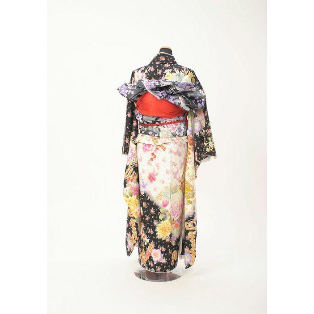 振袖と帯の2点セット 正絹ブランド振袖ガールズトーク 成人式に レディースの水着/浴衣(振袖)の商品写真