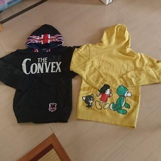 コンベックス(CONVEX)のconvex140パーカー★二枚セット★黒、黄色(ジャケット/上着)