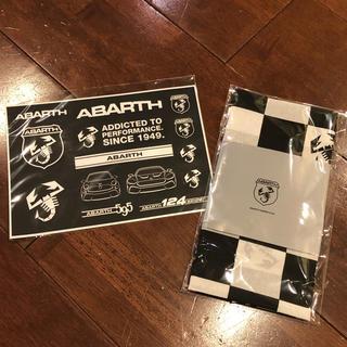アルファロメオ(Alfa Romeo)のアバルト ABARTH  ステッカー シール &オリジナル手拭い非売品(車外アクセサリ)