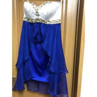 ローブ(ROBE)のROBEdeFLEURS 綺麗なブルーの中ミニドレスS(ナイトドレス)