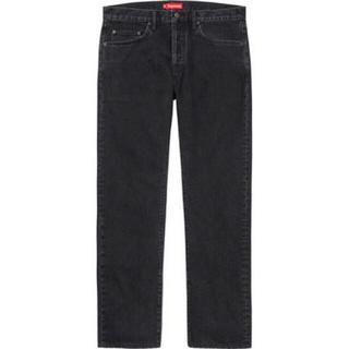 Supreme - Supreme Stone Washed Black Slim Jeans 30