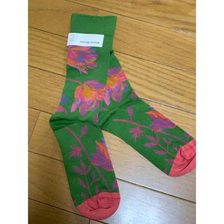 Marni - ●BonneMaisonボンヌメゾン緑地×ピンク花柄ソックス靴下