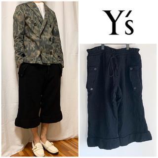Y's - Y's ウール縮絨 クロップドパンツ ワイドシルエット イージーパンツ サイズ1