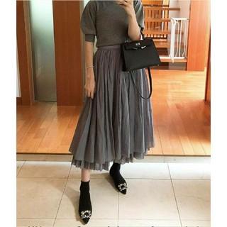 Drawer - 完売ドゥロワーシルクコットン裾2段スカート38未使用blaminkyori