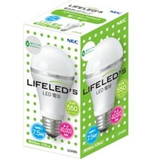 エヌイーシー(NEC)のNEC LED電球 LIFELED´S LED E26口金・7.5W(蛍光灯/電球)