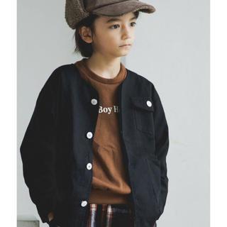 プティマイン(petit main)の新品pairmanon 長袖ノーカラージャケット(ジャケット/上着)