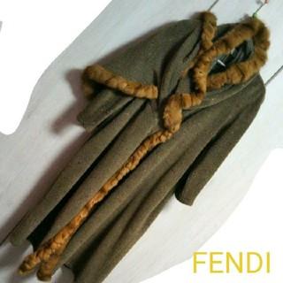 FENDI - 【FENDI】アルパカ&狐?の毛皮★ロングコート