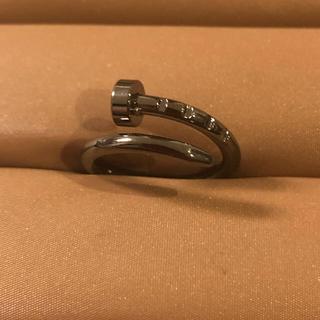 クギリング 釘 ブラック カッコイイ(リング(指輪))