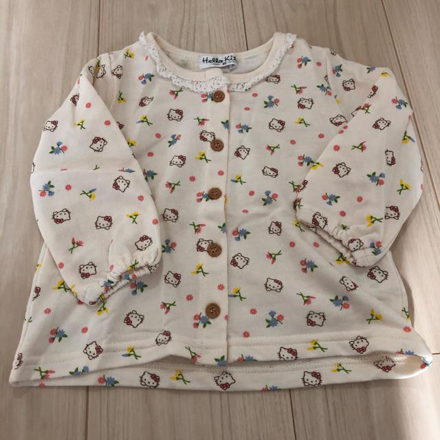 しまむら(シマムラ)のハローキティー カーディガン キッズ/ベビー/マタニティのベビー服(~85cm)(カーディガン/ボレロ)の商品写真