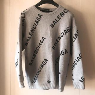 バレンシアガ(Balenciaga)の【底値】BALENCIAGA バレンシアガ ロゴニット セーター(ニット/セーター)