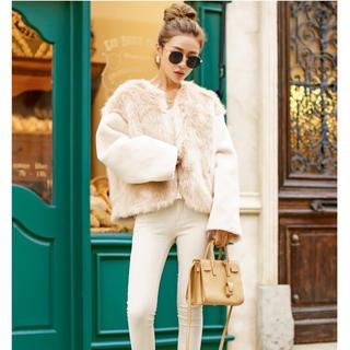 エイミーイストワール(eimy istoire)のGlamLips Change Fur & Boa No-collar Coat(ノーカラージャケット)