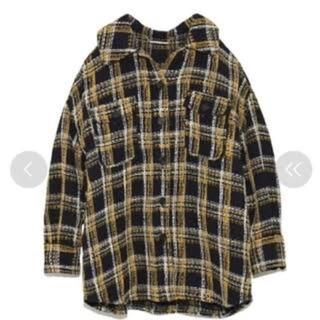 Mila Owen - ビックシルエット チェック ツイードシャツ
