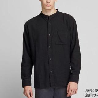 UNIQLO - 新品タグなし☆UNIQLO オーバーサイズフランネルスタンドカラーシャツ