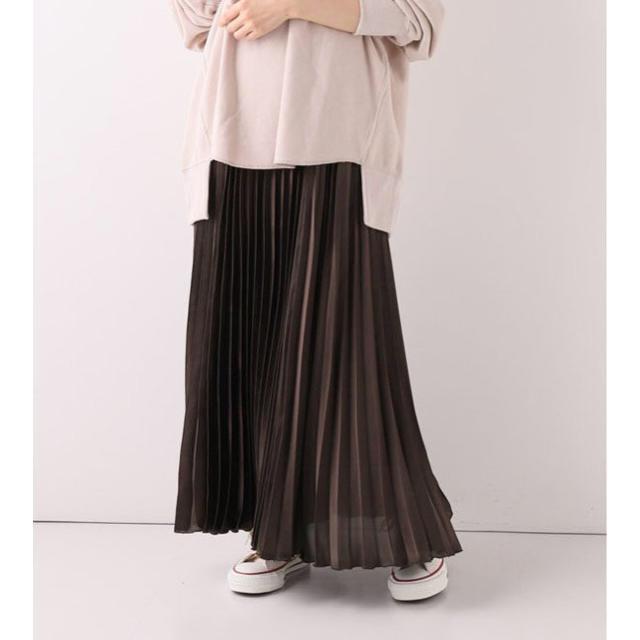 IENA SLOBE(イエナスローブ)のSLOBE IENA サテンプリーツスカート◆ レディースのスカート(ロングスカート)の商品写真