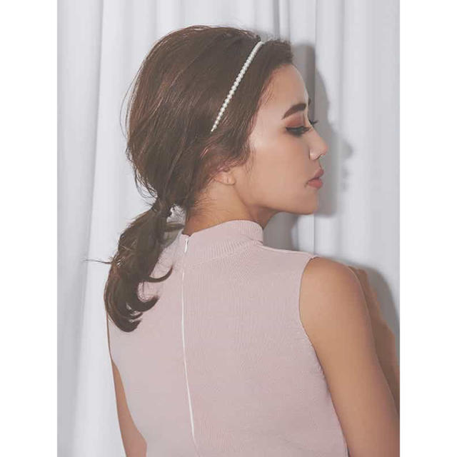 eimy istoire(エイミーイストワール)のeimy*パールカチューシャ レディースのヘアアクセサリー(カチューシャ)の商品写真