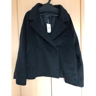 ストロベリーフィールズ(STRAWBERRY-FIELDS)のストロベリーフィールズ ショート コート 黒 サイズ2(その他)