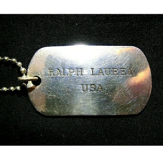 ラルフローレン(Ralph Lauren)のラルフローレン ネックレス ペンダント ドックタグ ドッグタグ プレート シルバ(ネックレス)