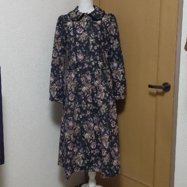 axes femme(アクシーズファム)のaxes femmeゴブランロングコートワンピース レディースのジャケット/アウター(ロングコート)の商品写真