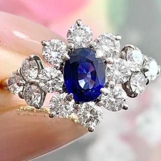 ★サファイア★ ロイヤルの煌めき✨ ダイヤモンド リング(リング(指輪))