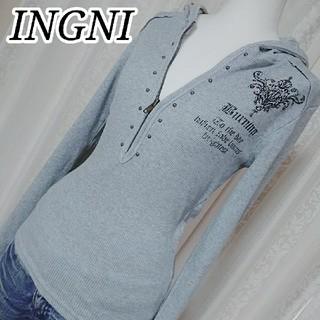 INGNI - INGNI 長袖トップス フード付き