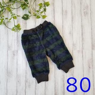 エフオーキッズ(F.O.KIDS)の美品 / F.O.KIDS / エフオーキッズ リブ付き パンツ 80(パンツ)