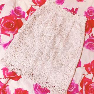 PROPORTION BODY DRESSING - プロポーションボディドレッシング  ケミカルレース スカート   薄ピンク