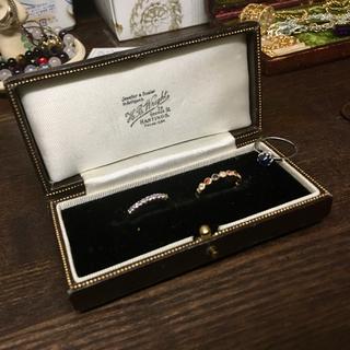 bizoux スノーホワイト & タンザナイト 指輪 リング 重ね付け用セット(リング(指輪))