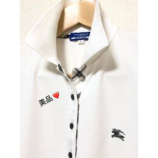 BURBERRY - 激安!一回着用!バーバリーブルーレーベル 半袖ポロシャツ 38