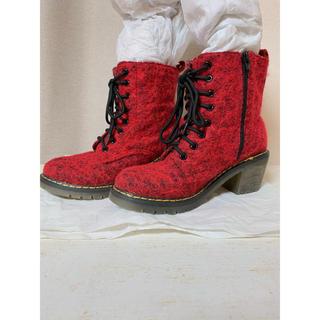 レディース ブーツ 赤 レッド(ブーツ)