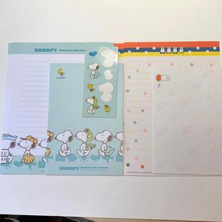スヌーピー(SNOOPY)のスヌーピーとミッフィーのレターセット(ノート/メモ帳/ふせん)
