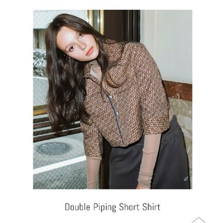 アリシアスタン(ALEXIA STAM)のJuemi Double Piping short shirt(シャツ/ブラウス(長袖/七分))
