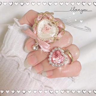 ハニーシナモン(Honey Cinnamon)の恋するくまさんリング セット 指輪 ハンドメイド(リング)