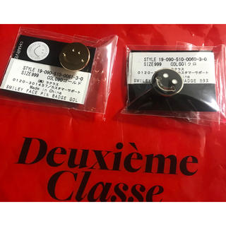 DEUXIEME CLASSE - Deuxieme Classe  SMILEY FACE ピンバッジ 2点セット