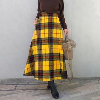 ミラオーウェン(Mila Owen)のミラオーウェン チェック柄スカート ZARA birthdaybash (ロングスカート)