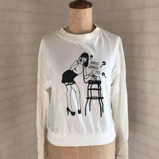 スライ(SLY)の送料込!スライsly スウェット長袖オリジナルアメコミロゴmoussyロデオ(Tシャツ(長袖/七分))