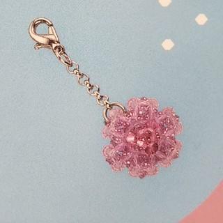 ベルメゾン - ビーズ チャーム キット : フラワー  ライトパープルピンク色