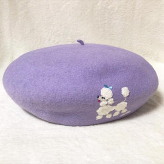 ミルク(MILK)のMILK プードルベレー ラベンダー ベレー帽(ハンチング/ベレー帽)