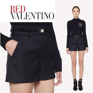 レッドヴァレンティノ(RED VALENTINO)の美品RED VALENTINOレッドバレンチノ ショートパンツダークネイビー38(ショートパンツ)
