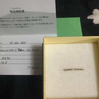 アガット(agete)のローズカットダイヤモンドリング YG◇16号 美品(リング(指輪))