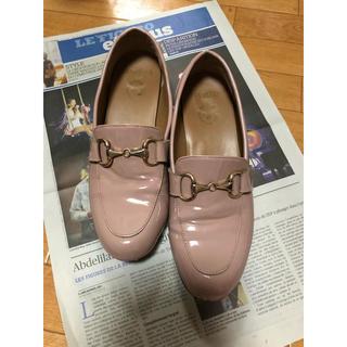 ハルタ(HARUTA)のハルタ  ピンク エナメル ローファー(ローファー/革靴)