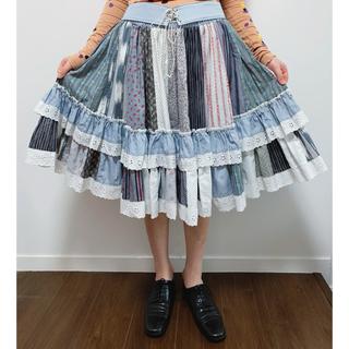 ロキエ(Lochie)の気まぐれ値下げvintage キルティング スカート(ひざ丈スカート)