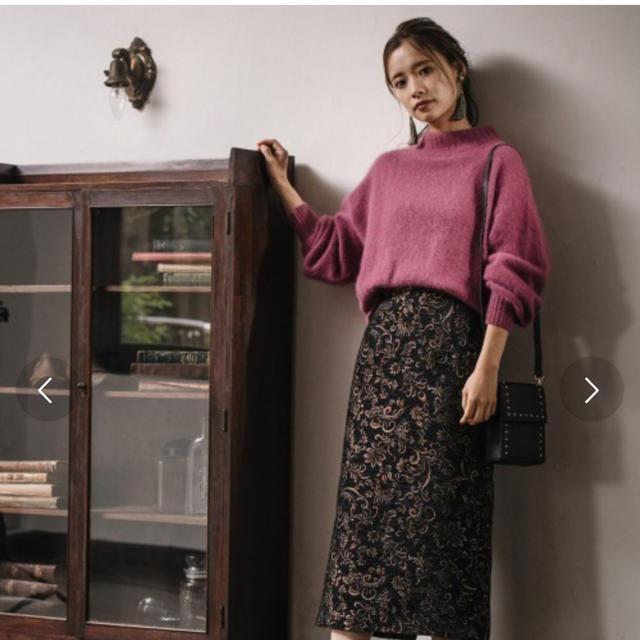 mysty woman(ミスティウーマン)のフォックス混ハイネックロングスリーブ プルオーバー レディースのトップス(ニット/セーター)の商品写真