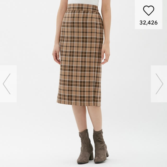 GU(ジーユー)のGU◎タータンチェックナローミディスカート レディースのスカート(ひざ丈スカート)の商品写真